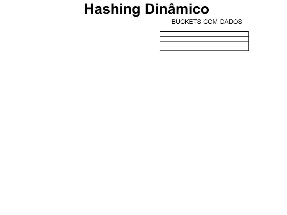 BUCKETS COM DADOS Hashing Dinâmico
