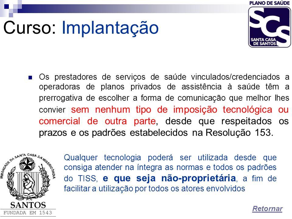 Curso:Implantação Os prestadores de serviços de saúde vinculados/credenciados a operadoras de planos privados de assistência à saúde têm a prerrogativ