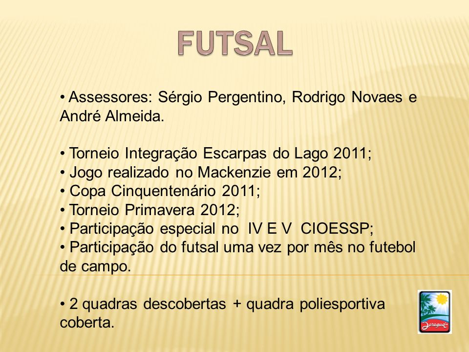 Abertura do Futsal no V Cioeesp