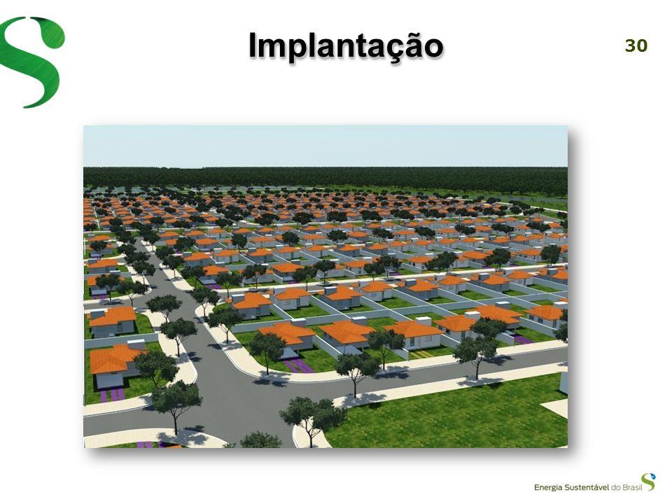 29 Atração de grandes empresas para se instalarem e perpetuarem na região Implantação de Área Industrial, próximo ao canteiro de obras da UHE Jirau Ac