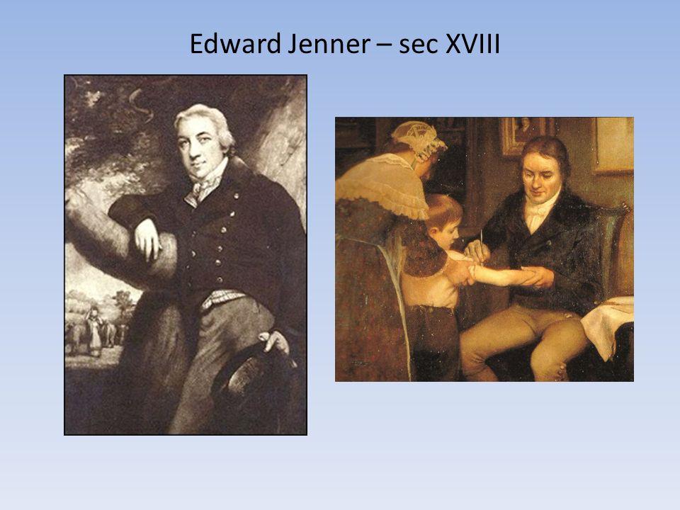 Edward Jenner – sec XVIII