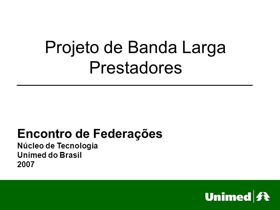 Projeto de Banda Larga Prestadores Encontro de Federações Núcleo de Tecnologia Unimed do Brasil 2007