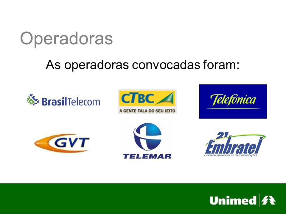Propostas Até o momento apresentaram propostas a Telefônica, Brasil Telecom e GVT.
