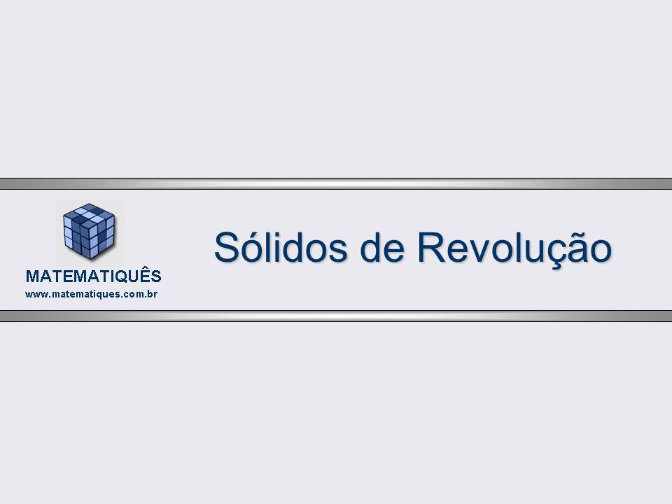 Sólidos de Revolução Inicialmente, a região pode ser encarada como delimitada pelos gráficos das funções: Logo, a integral que nos fornece o volume do sólido será: