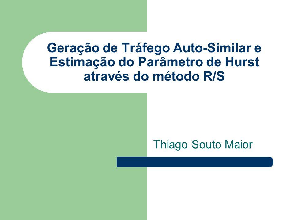 Roteiro Geração de tráfego Relação Paretto/Hurst Quantidade de fontes Teste R/S Relação R/S com Hurst Ferramentas Referências