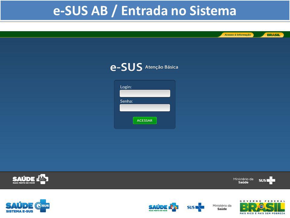 e-SUS AB / Entrada no Sistema
