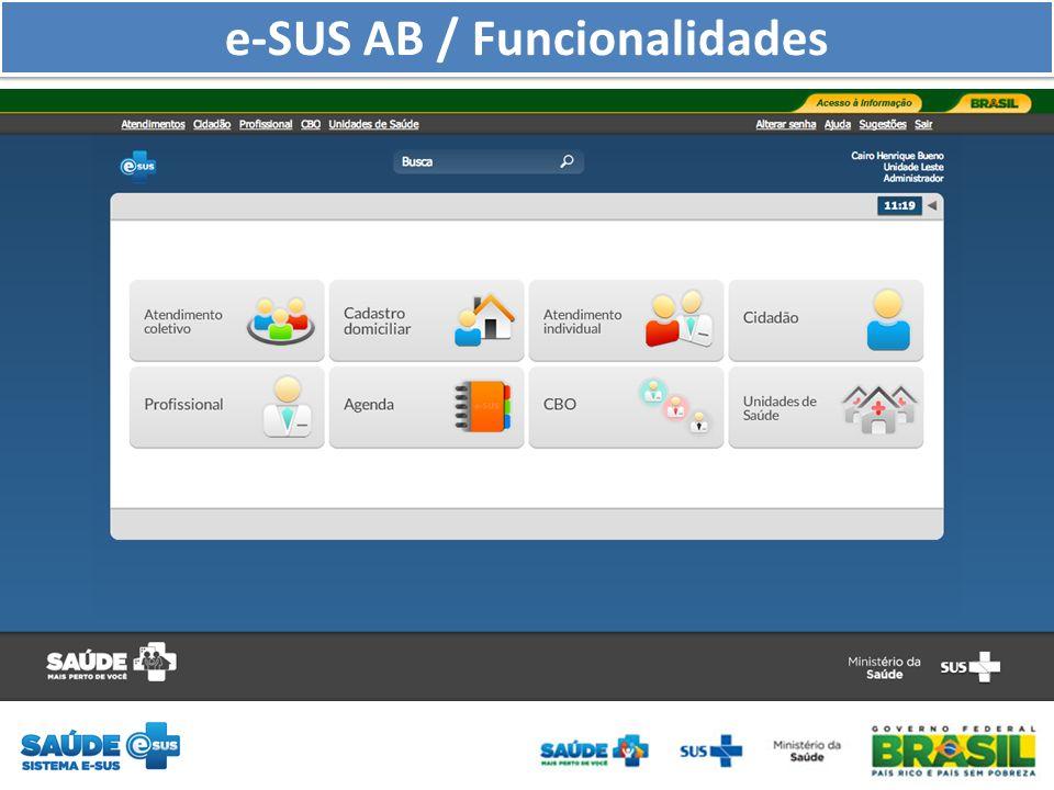 e-SUS AB / Funcionalidades