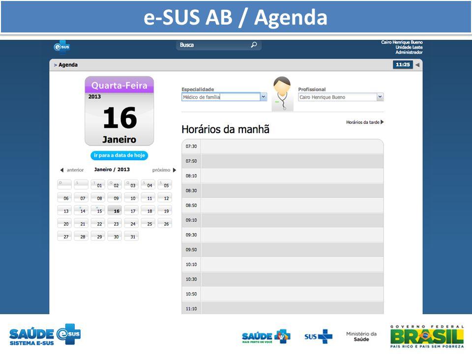 e-SUS AB / Agenda