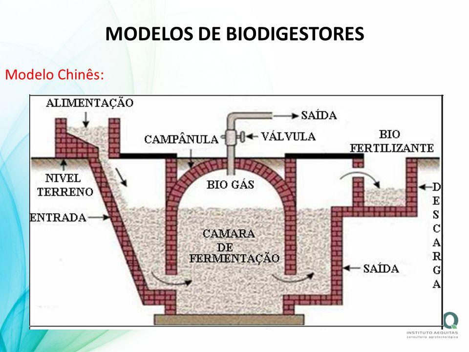 MODELOS DE BIODIGESTORES Modelo Chinês: