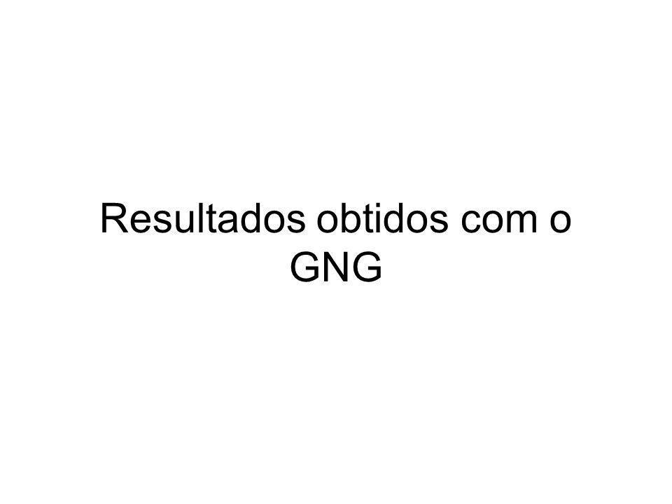 Resultados obtidos com o GNG