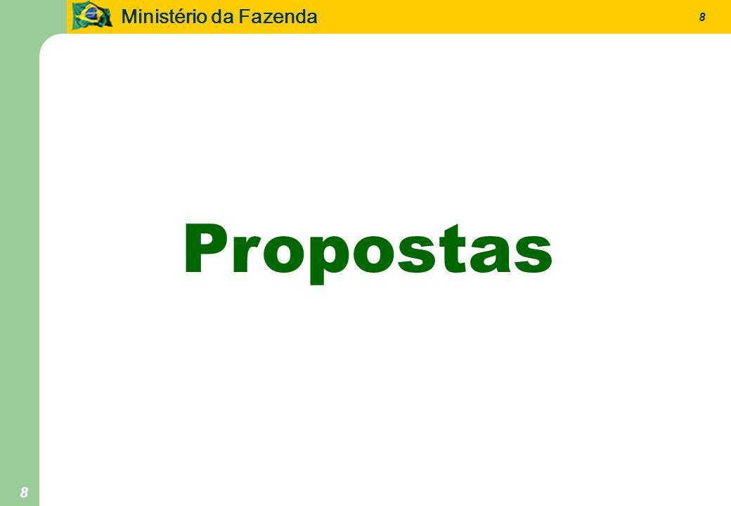 Ministério da Fazenda 8 8 Propostas