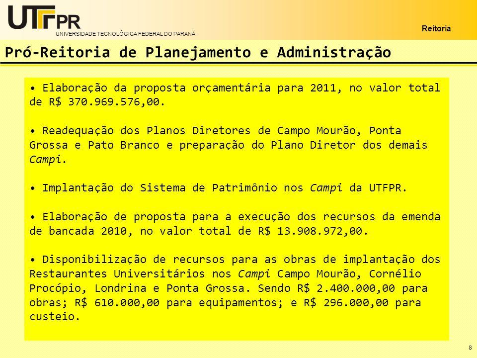 UNIVERSIDADE TECNOLÓGICA FEDERAL DO PARANÁ Reitoria Aprovação do Programa de Pós-Graduação Stricto Sensu em Alimentos, em parceria com o Campus Francisco Beltrão.