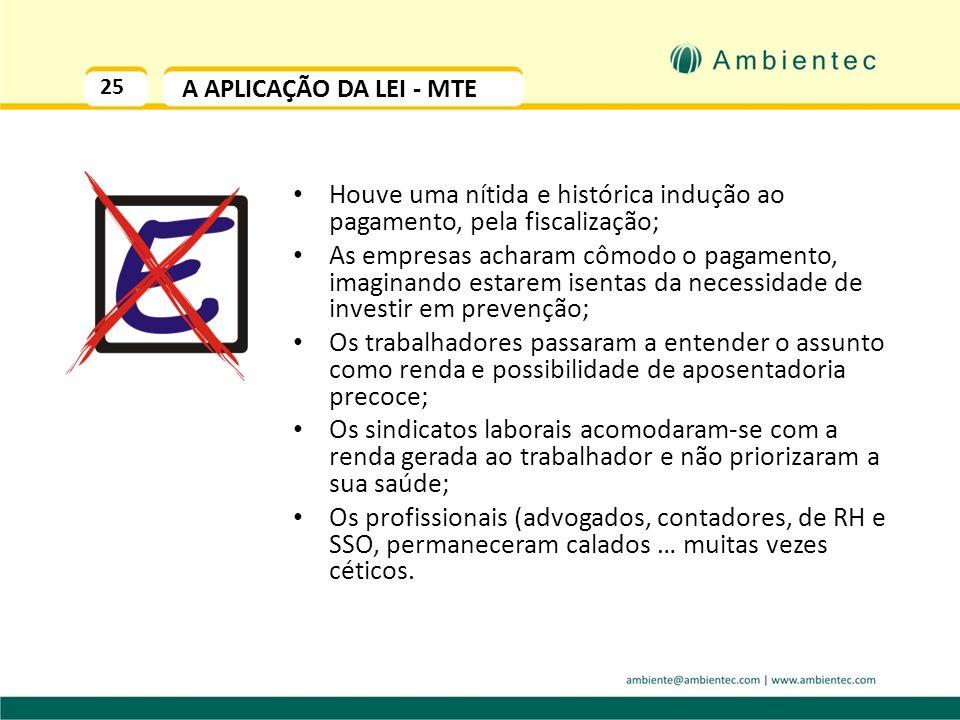 24 OPORTUNIDADE TRIBUTÁRIA O ADICIONAL DE INSALUBRIDADE depende da CONDIÇÃO DE TRABALHO oferecida. Só é devido se ela for RUIM. Logo, deve ser : Elimi