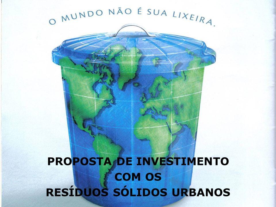 CONDIÇÕES DO PROJETO Todos os Resíduos Sólidos Urbanos doados por um período de vinte (20) anos, renováveis por mais vinte (20).