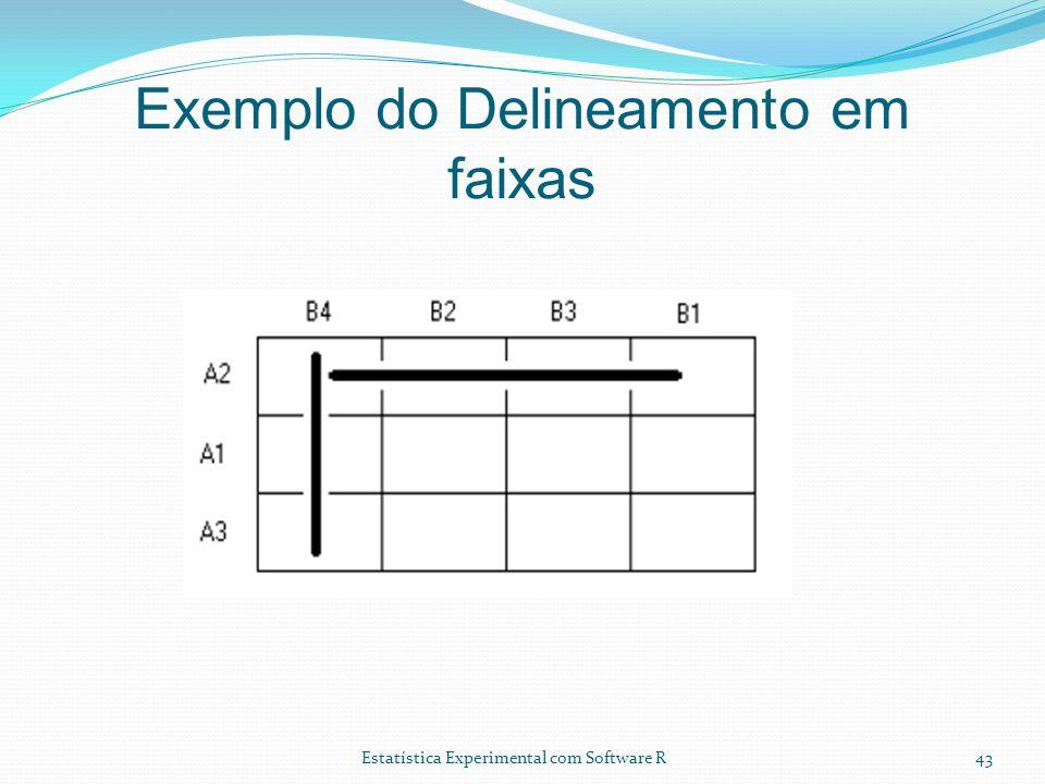 Estatística Experimental com Software R Exemplo do Delineamento em faixas 43