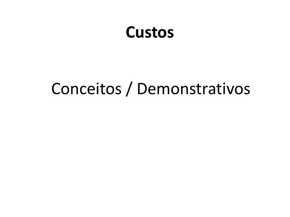Conceitos / Demonstrativos Custos