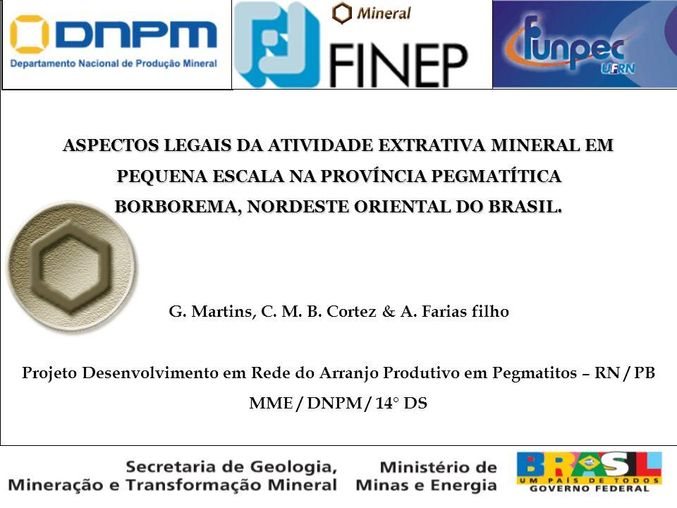 A PROVÍNCIA PEGMATÍTICA BORBOREMA Soares, D.R. et al.
