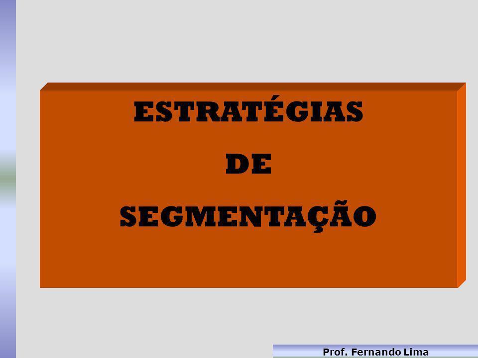 Prof. Fernando Lima ESTRATÉGIAS DE SEGMENTAÇÃO