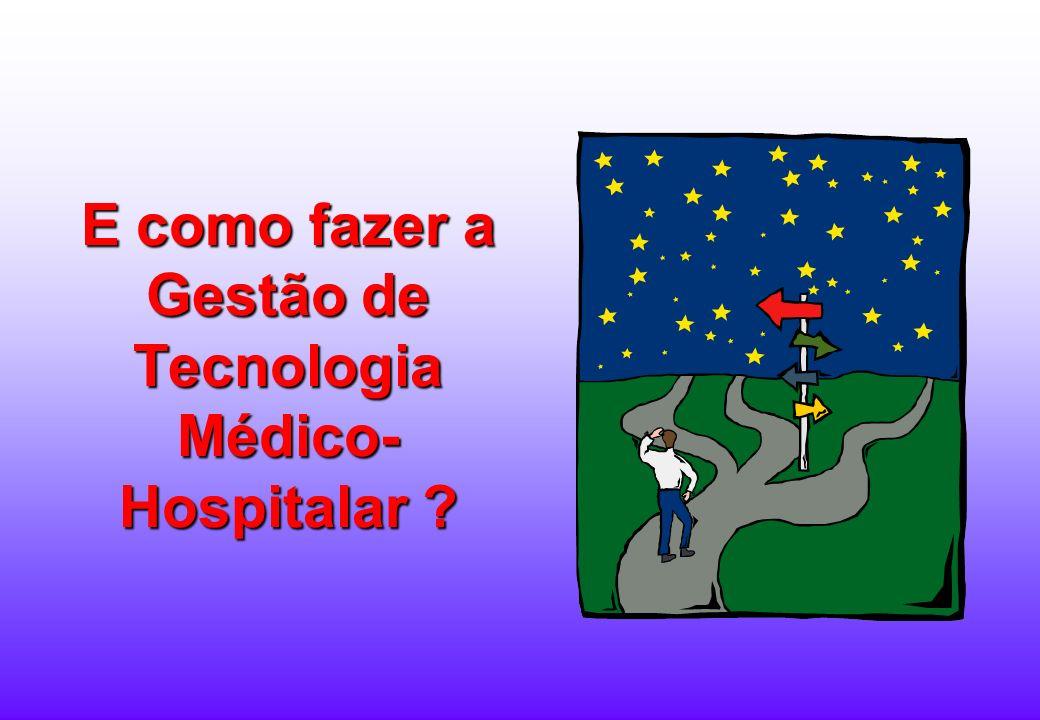 Objetivo da GTMH Reduzir os RISCOS e os CUSTOS intrínsecos, decorrentes da utilização das tecnologias médico-hospitalares, bem como melhorar seu plane