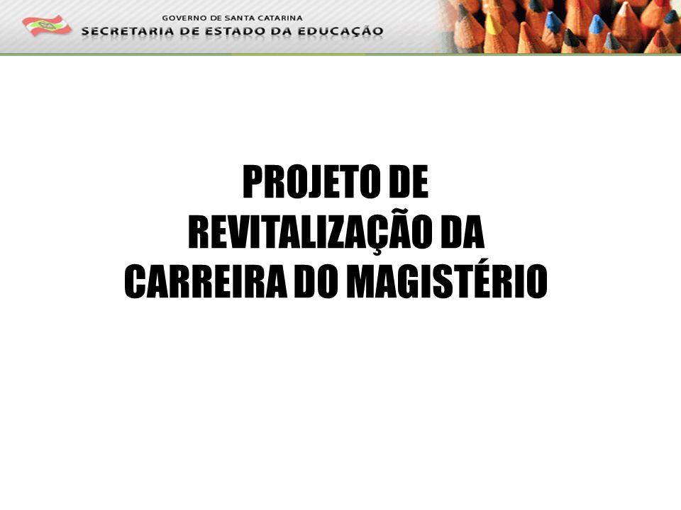 PROJETO DE REVITALIZAÇÃO DA CARREIRA DO MAGISTÉRIO