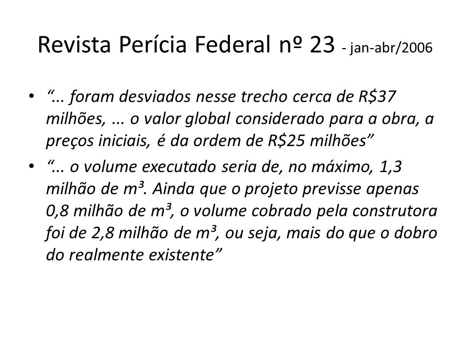 Revista Perícia Federal nº 23 - jan-abr/2006...