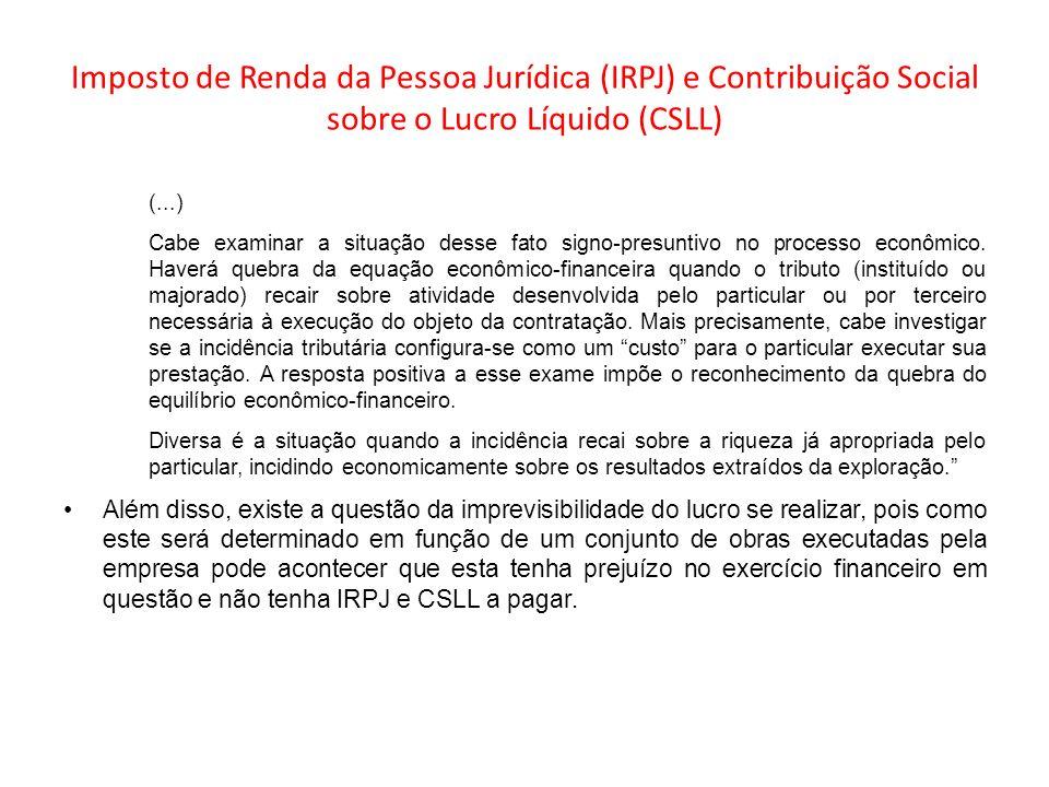 Imposto de Renda da Pessoa Jurídica (IRPJ) e Contribuição Social sobre o Lucro Líquido (CSLL) (...) Cabe examinar a situação desse fato signo-presunti