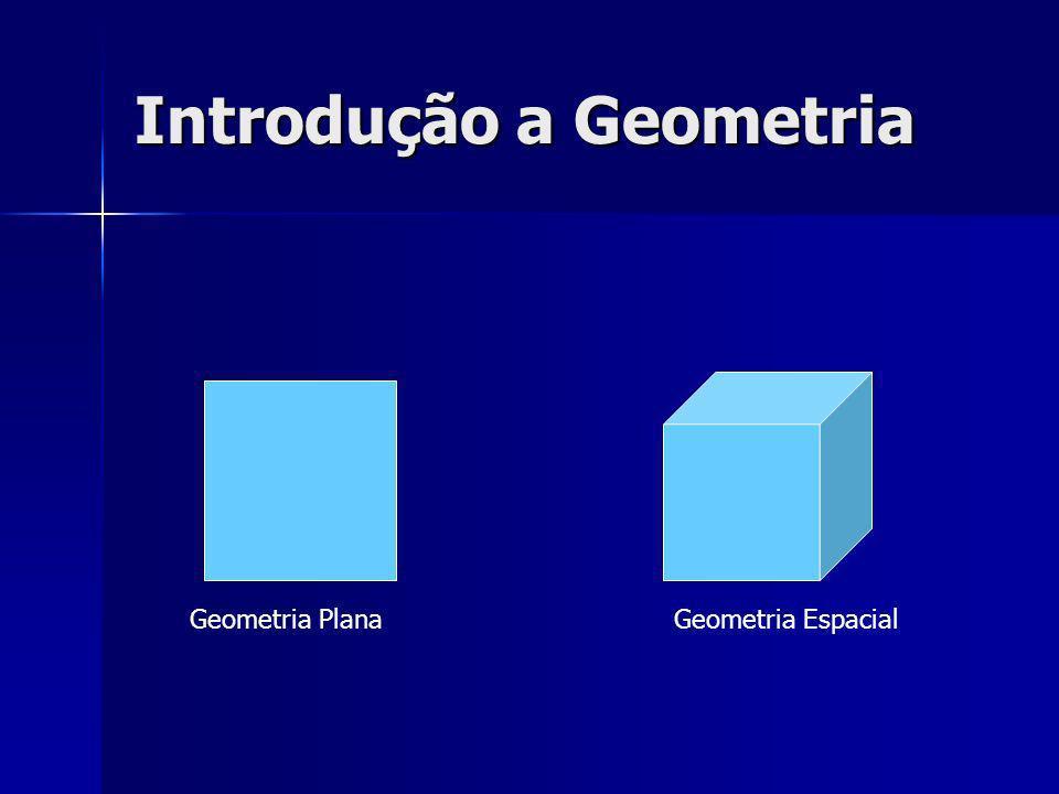 Introdução a Geometria Espacial Conceitos Primitivos: são conceitos adotados sem definição.