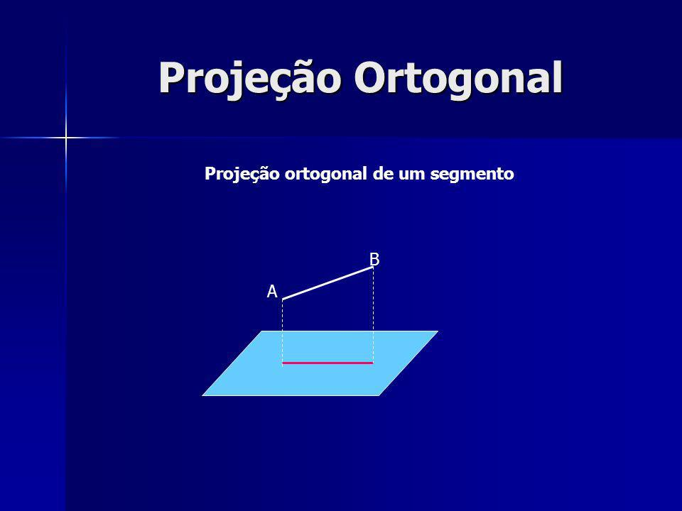 Projeção Ortogonal Projeção ortogonal de um segmento A B