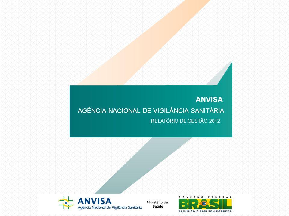 ATIVIDADES DE 2010 AGÊNCIA NACIONAL DE VIGILÂNCIA SANITÁRIA ANVISA RELATÓRIO DE GESTÃO 2012