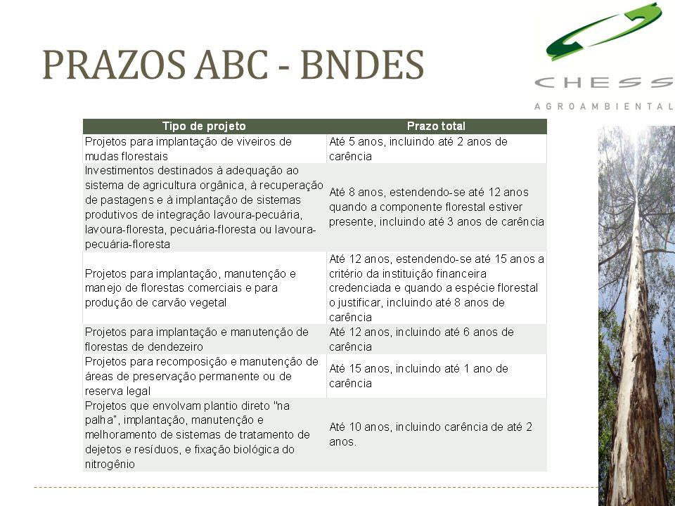 PRAZOS ABC - BNDES