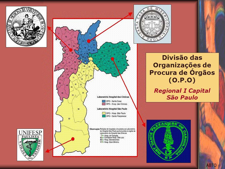 ABTO Divisão das Organizações de Procura de Órgãos (O.P.O) Regional I Capital São Paulo