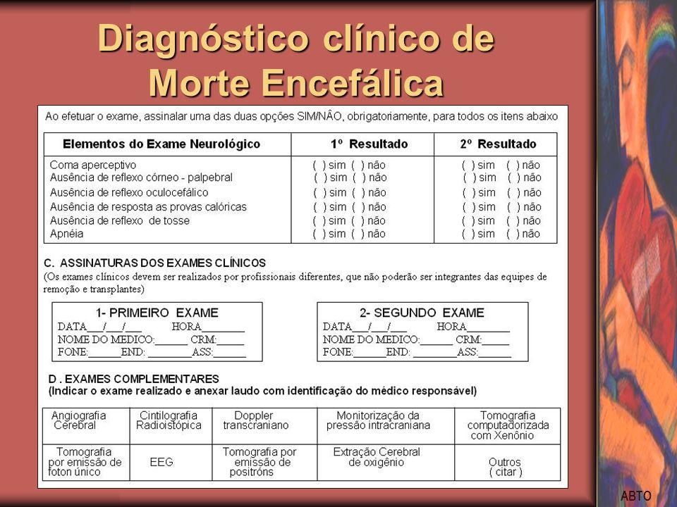 ABTO Diagnóstico clínico de Morte Encefálica