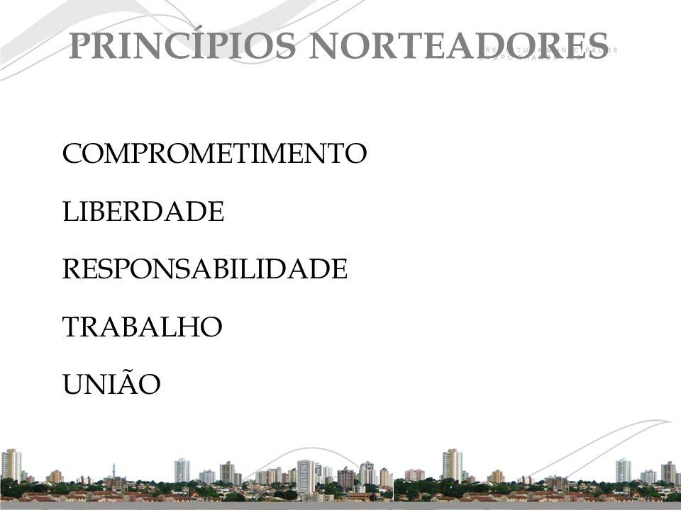 COMPROMETIMENTO LIBERDADE RESPONSABILIDADE TRABALHO UNIÃO PRINCÍPIOS NORTEADORES