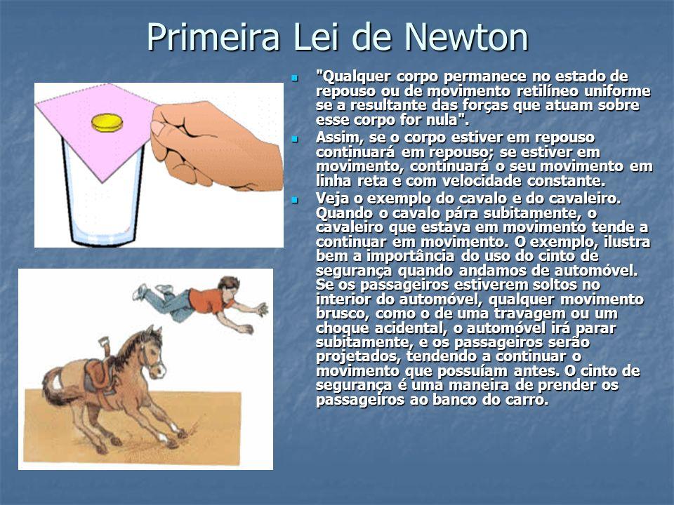 1 a Lei de Newton – Princípio da Inércia