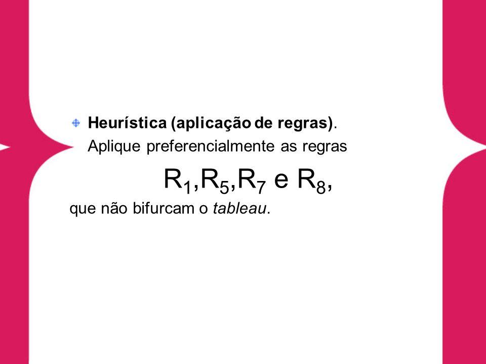 Conseqüência Lógica na Resolução Denição 7.17 (forma clausal) Dada uma fórmula H, uma forma clausal associada a H é uma fórmula H c tal que H c é uma conjunção de cláusulas e H c equivale a H.