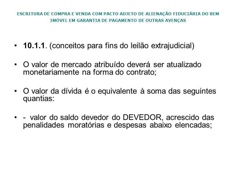 ESCRITURA DE COMPRA E VENDA COM PACTO ADJETO DE ALIENAÇÃO FIDUCIÁRIA DO BEM IMÓVEL EM GARANTIA DE PAGAMENTO DE OUTRAS AVENÇAS 10.1.1. (conceitos para