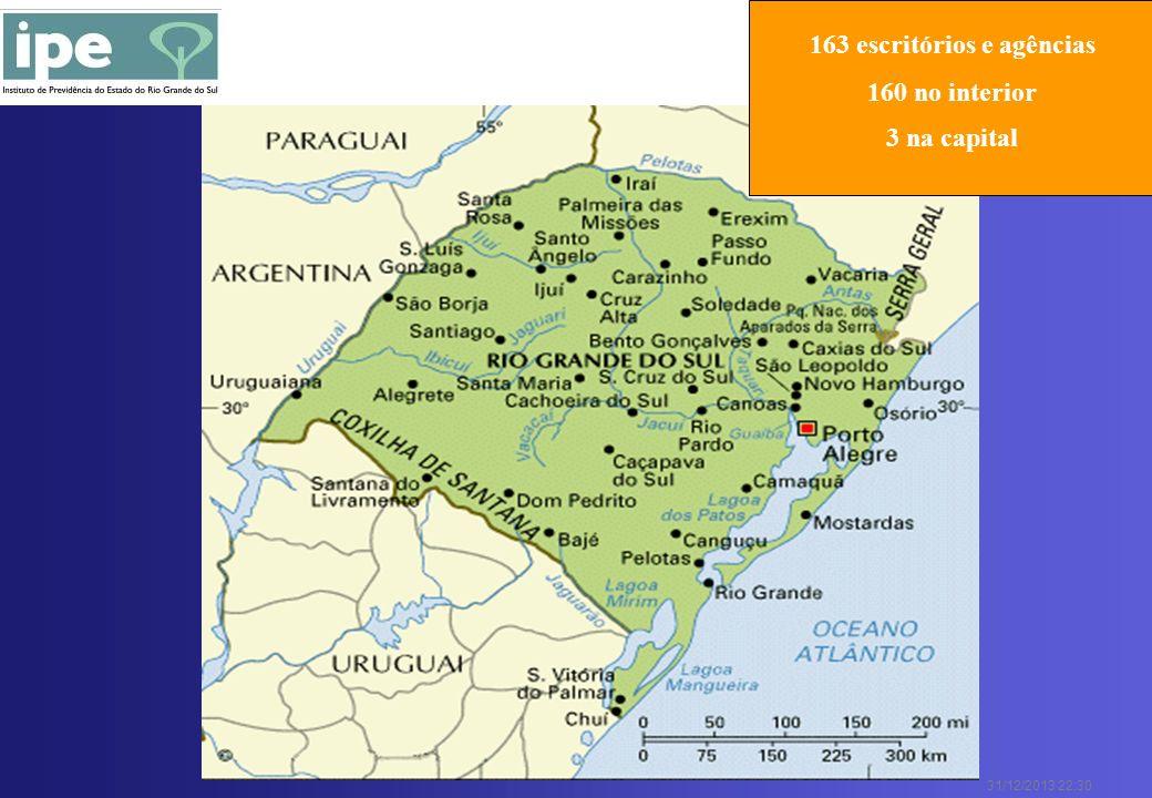 31/12/2013 22:30 163 escritórios e agências 160 no interior 3 na capital