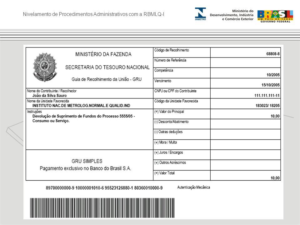Nivelamento de Procedimentos Administrativos com a RBMLQ-I