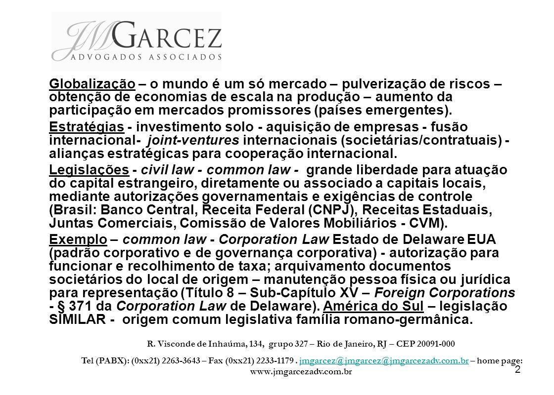 13 SOCIEDADES LIMITADAS - Os sócios das limitadas no Brasil respondem apenas pelo capital social subscrito.
