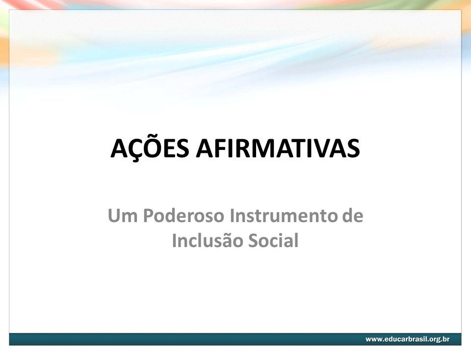 5.A inclusão do Programa de Ações Afirmativas na Administração Pública Federal; 6.