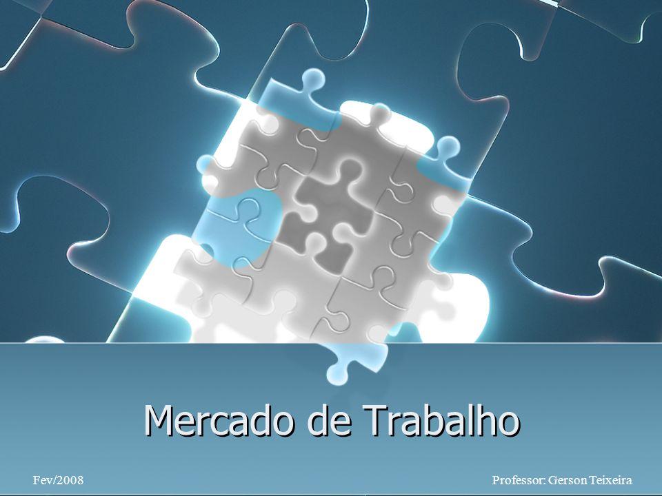 Mercado de Trabalho Professor: Gerson TeixeiraFev/2008