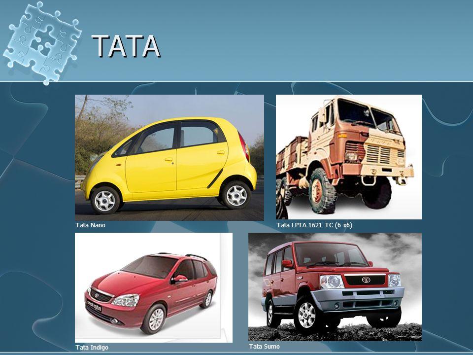 TATA Tata Nano Tata Indigo Tata Sumo Tata LPTA 1621 TC (6 x6)