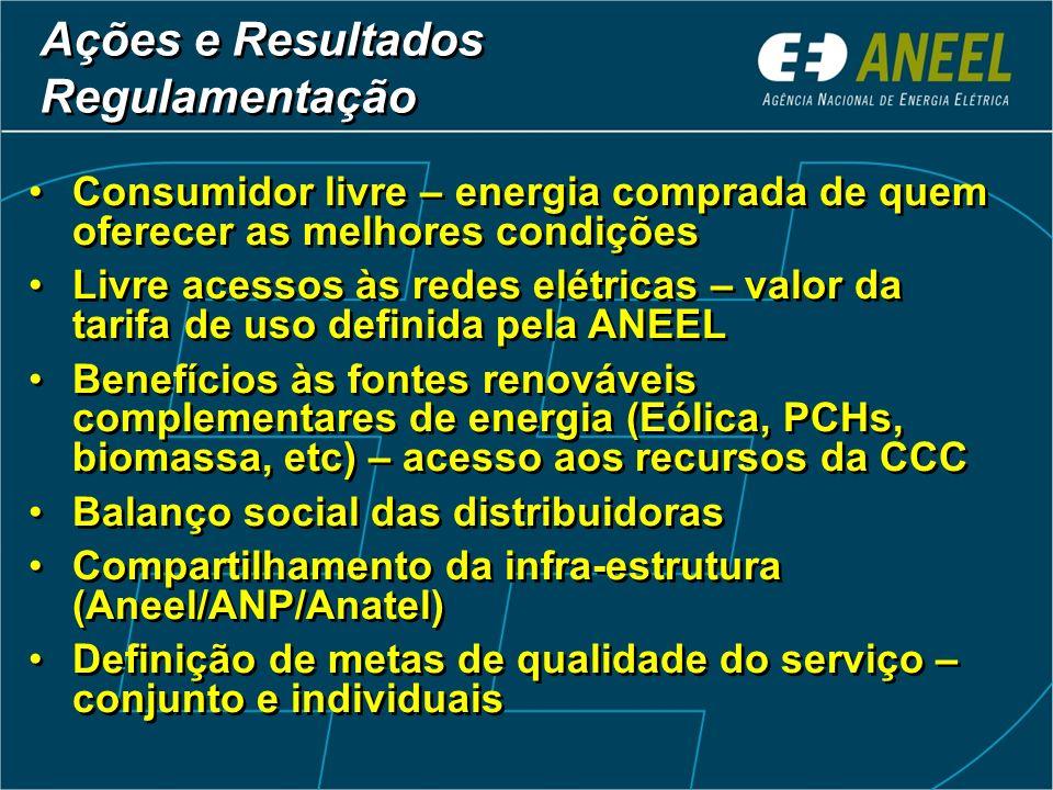 Ações e Resultados Regulamentação - Universalização Ações e Resultados Regulamentação - Universalização Definição das metas por município Até dezembro