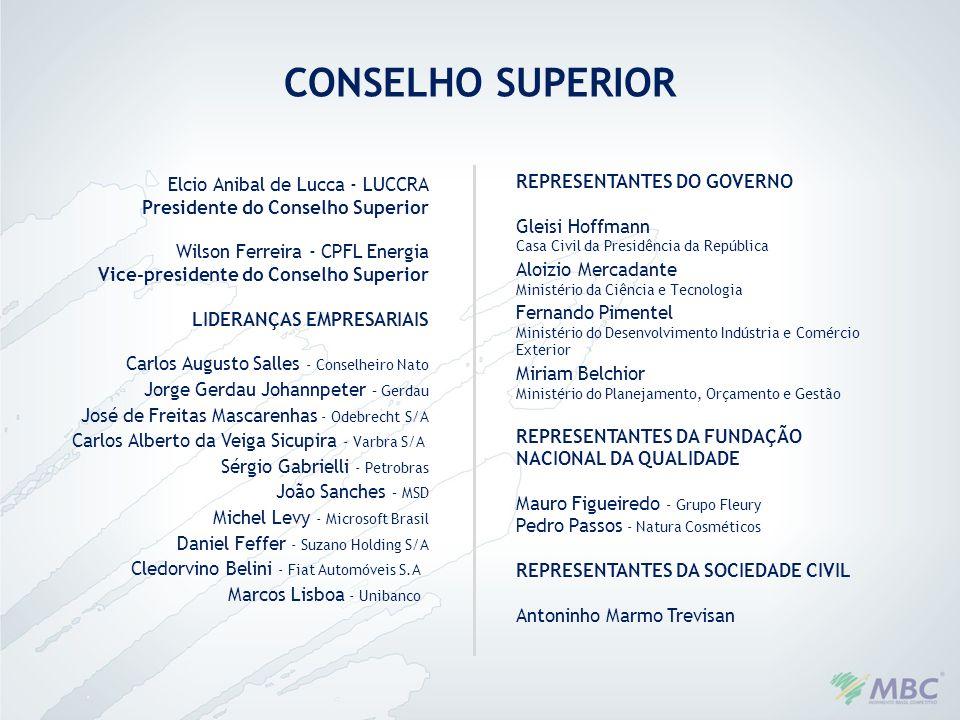 Elcio Anibal de Lucca - LUCCRA Presidente do Conselho Superior Wilson Ferreira - CPFL Energia Vice-presidente do Conselho Superior LIDERANÇAS EMPRESAR
