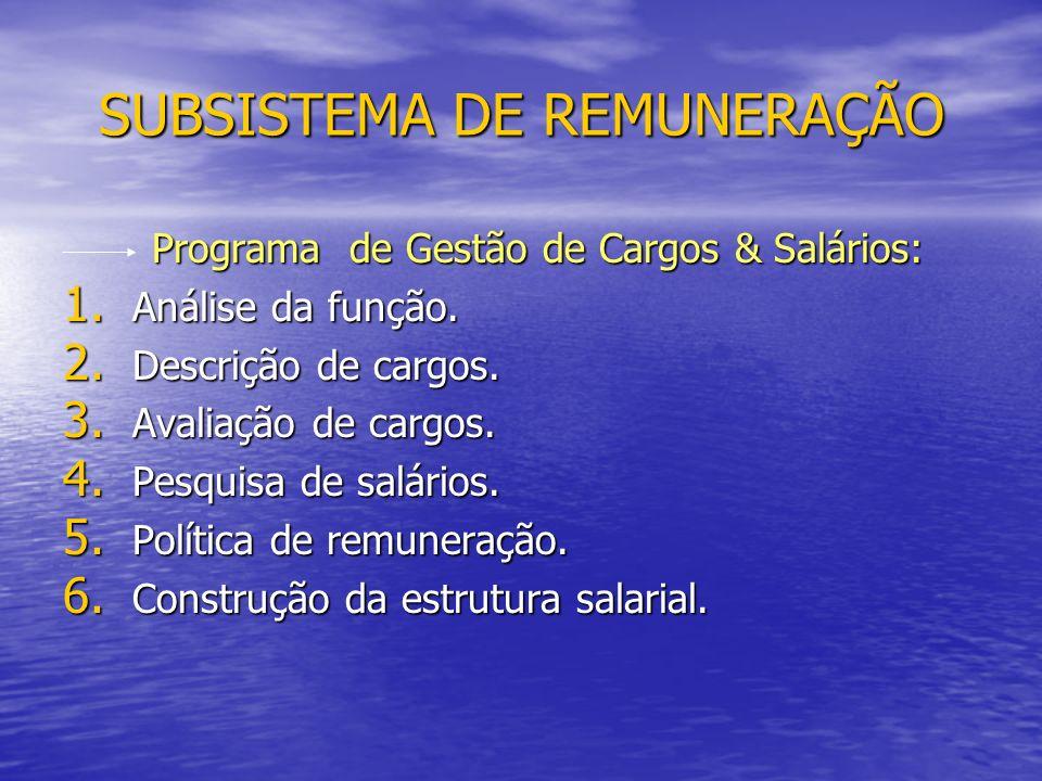 Programa de Gestão de Cargos & Salários: Programa de Gestão de Cargos & Salários: 1.