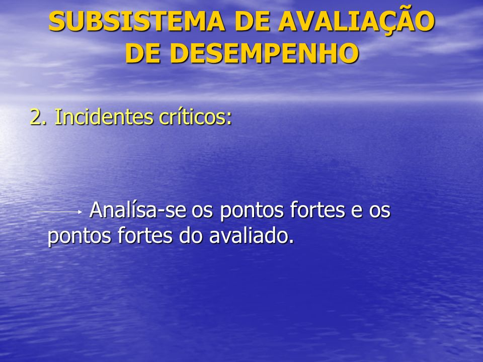 SUBSISTEMA DE AVALIAÇÃO DE DESEMPENHO 2.