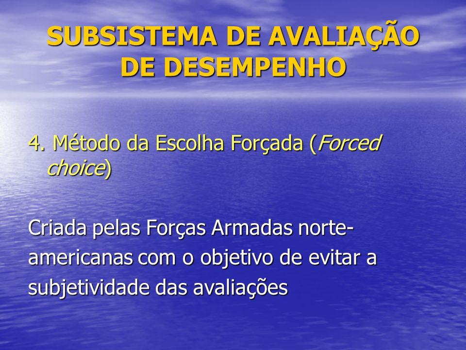 SUBSISTEMA DE AVALIAÇÃO DE DESEMPENHO 4.