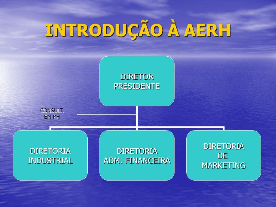 INTRODUÇÃO À AERH DIRETORPRESIDENTE DIRETORIAINDUSTRIALDIRETORIA ADM.