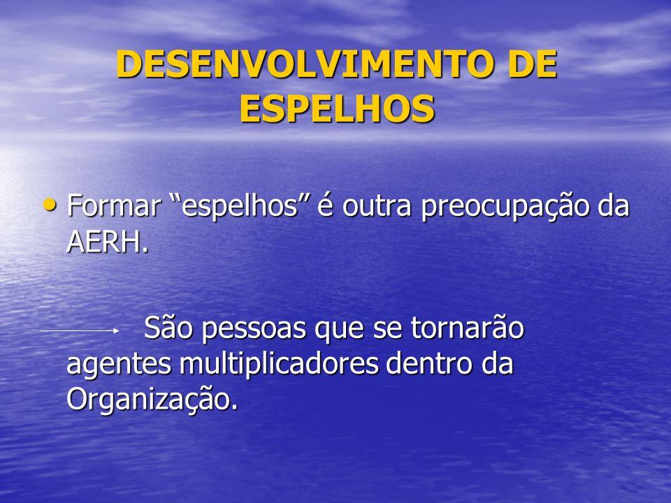 DESENVOLVIMENTO DE ESPELHOS Formar espelhos é outra preocupação da AERH.