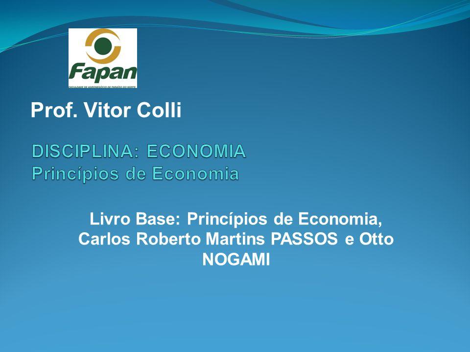 Prof. Vitor Colli Livro Base: Princípios de Economia, Carlos Roberto Martins PASSOS e Otto NOGAMI